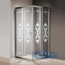 Душевой уголок Cezares Giubileo-A-2-100 стекло с узором, бронза 100х100