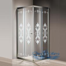 Душевой уголок Cezares Giubileo-A-2-80 стекло с узором, бронза 80х80