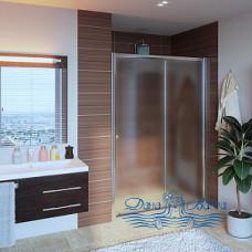 Душевая дверь в нишу GuteWetter Guwer GK-662D 120 стекло матовое, профиль хром