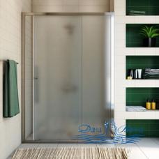 Душевая дверь в нишу GuteWetter Guwer GK-662D 140 стекло матовое, профиль хром