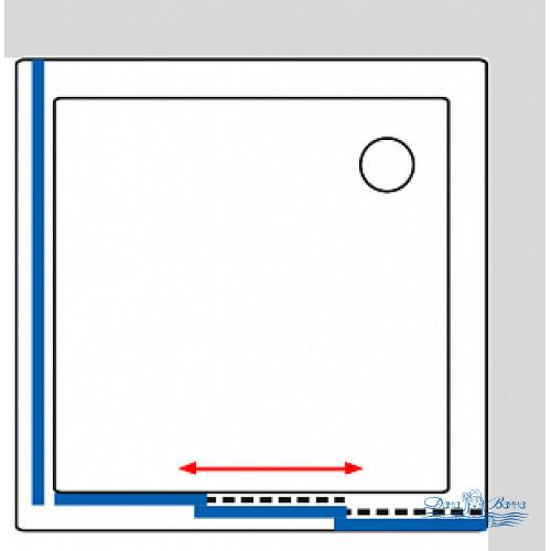 Душевой уголок GuteWetter Practic Square GK-403 правая 115x115 профиль хром