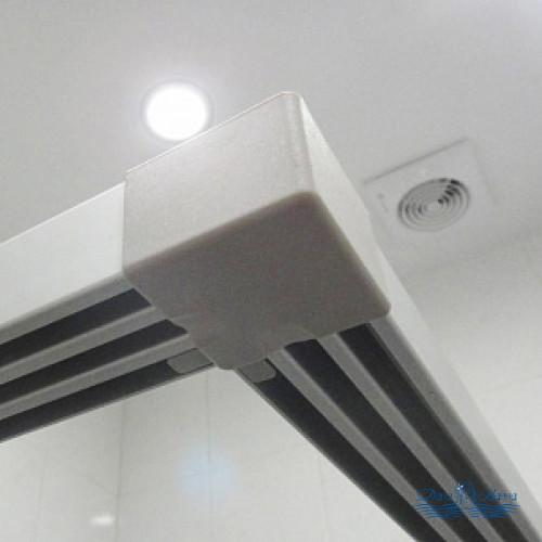 Душевой уголок GuteWetter Practic Square GK-433 100x100 профиль хром