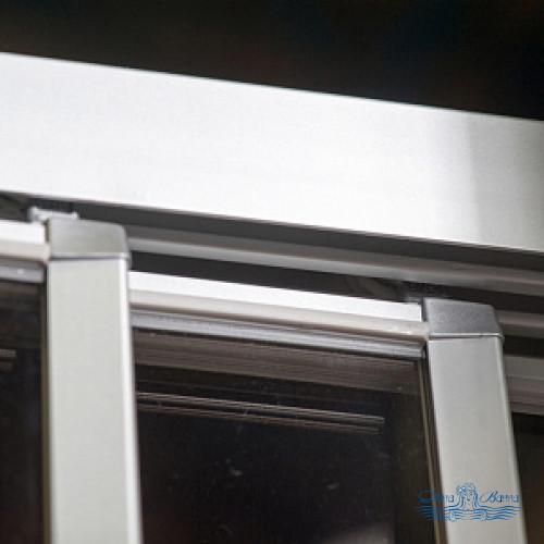 Душевой уголок GuteWetter Practic Square GK-403 левая 105x105 профиль хром