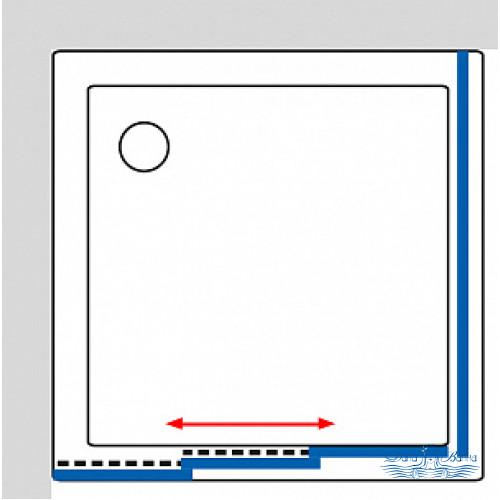 Душевой уголок GuteWetter Practic Square GK-403 левая 95x95 профиль хром