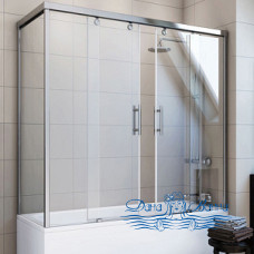 Шторка на ванну GuteWetter Slide Part GV-865 правая 140x70 профиль хром
