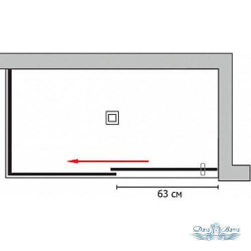 Душевой уголок GuteWetter Slide Rectan GK-863B левая 140x70 профиль хром