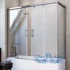 Шторка на ванну GuteWetter Slide Part GV-865 левая 140x90 профиль хром