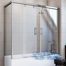 Шторка на ванну GuteWetter Slide Part GV-865 правая 140x90 профиль хром