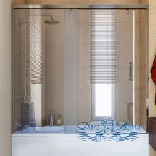 Шторка на ванну GuteWetter Slide Part GV-862 левая 140 профиль хром