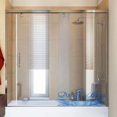 Шторка на ванну GuteWetter Slide Part GV-862 правая 140 профиль хром