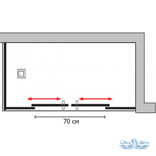Душевой уголок GuteWetter Slide Rectan GK-865 правая 160x70 профиль хром