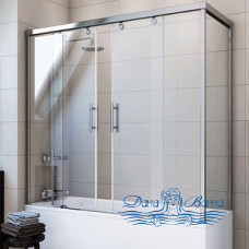 Шторка на ванну GuteWetter Slide Part GV-865 левая 200x80 профиль хром