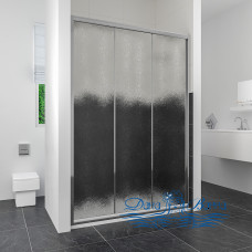 Душевая дверь в нишу RGW Classic CL-11 (1260-1310) профиль хром, стекло шиншилла