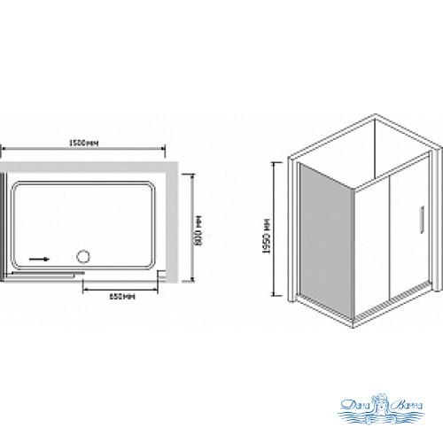 Душевой уголок RGW Passage PA-42 150х80 профиль хром, стекло матовое
