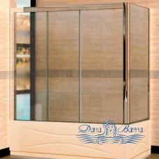 Шторка на ванну RGW Screens SC-81 (176-181)х75 профиль хром, стекло шиншилла