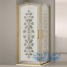 Душевой уголок Sturm Eleganz 100х100 bronze декор