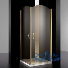 Душевой уголок Sturm Eleganz 100х100 bronze тонированное