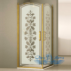 Душевой уголок Sturm Eleganz 100х100 gold декор