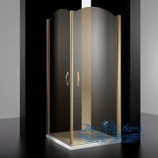 Душевой уголок Sturm Eleganz 100х100 gold тонированное