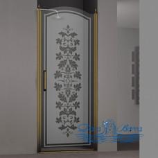 Душевая дверь в нишу Sturm Schick 90 decor bronze R
