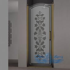 Душевая дверь в нишу Sturm Schick 80 L decor bronze
