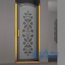Душевая дверь в нишу Sturm Schick 80 R decor gold
