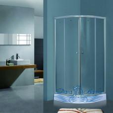 Душевой уголок Timo TL-801 Fabric Glass 80х80 с поддоном