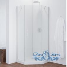 Душевой уголок Vegas Glass AFA-Pen 90 01 01 R профиль белый, стекло прозрачное