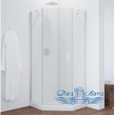Душевой уголок Vegas Glass AFA-Pen 90 01 01 L профиль белый, стекло прозрачное