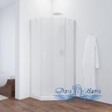 Душевой уголок Vegas Glass AFA-Pen 90 01 10 R профиль белый, стекло сатин