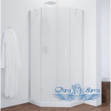 Душевой уголок Vegas Glass AFA-Pen 90 01 10 L профиль белый, стекло сатин