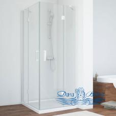 Душевой уголок Vegas Glass AFA 080 01 01 профиль белый, стекло прозрачное