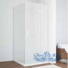 Душевой уголок Vegas Glass AFP-Fis 80 01 10 R профиль белый, стекло сатин