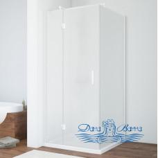 Душевой уголок Vegas Glass AFP-Fis 80 01 10 L профиль белый, стекло сатин