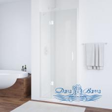 Душевая дверь в нишу Vegas Glass AFP 100 01 01 L профиль белый, стекло прозрачное