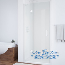 Душевая дверь в нишу Vegas Glass AFP 110 01 01 L вход 73, профиль белый, стекло прозрачное