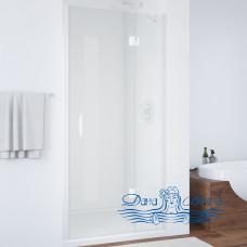 Душевая дверь в нишу Vegas Glass AFP 110 01 01 R вход 63, профиль белый, стекло прозрачное