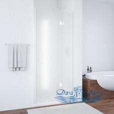 Душевая дверь в нишу Vegas Glass AFP 100 01 10 R профиль белый, стекло сатин