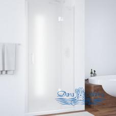 Душевая дверь в нишу Vegas Glass AFP 110 01 10 R вход 73, профиль белый, стекло сатин