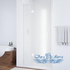 Душевая дверь в нишу Vegas Glass AFP 110 01 10 L вход 63, профиль белый, стекло сатин