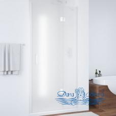 Душевая дверь в нишу Vegas Glass AFP 110 01 10 R вход 63, профиль белый, стекло сатин