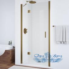 Душевая дверь в нишу Vegas Glass AFP 110 05 01 L профиль бронза, стекло прозрачное