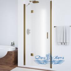 Душевая дверь в нишу Vegas Glass AFP 100 05 10 L профиль бронза, стекло сатин