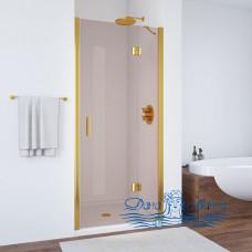 Душевая дверь в нишу Vegas Glass AFP 100 09 05 R профиль золото, стекло бронза