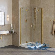 Душевой уголок Vegas Glass AFS Lux 0090 09 01 профиль золото, стекло прозрачное