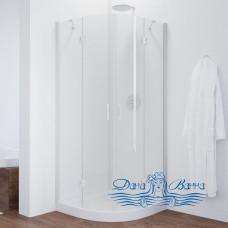 Душевой уголок Vegas Glass AFS 0080 01 01 профиль белый, стекло прозрачное