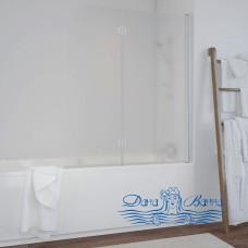 Шторка на ванну Vegas Glass E2V 120 01 10 R профиль белый, стекло сатин