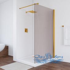 Душевая перегородка Vegas Glass EAF 106 09 05 профиль золото, стекло бронза