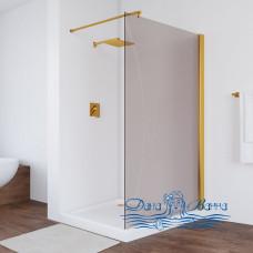 Душевая перегородка Vegas Glass EAF 116 09 05 профиль золото, стекло бронза