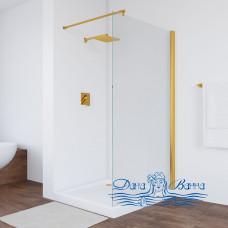 Душевая перегородка Vegas Glass EAF 96 09 01 профиль золото, стекло прозрачное